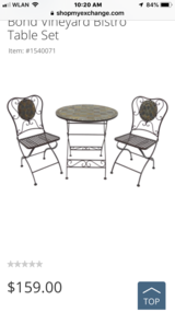Patio 3 piece Bistro Set in Stuttgart, GE