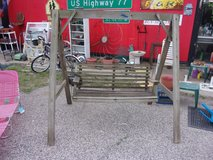 Wood Frame and Swing in Fort Riley, Kansas