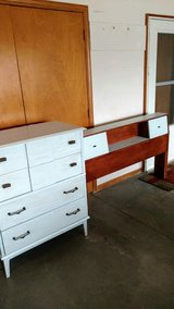 Vintage head board and dresser in Fort Riley, Kansas