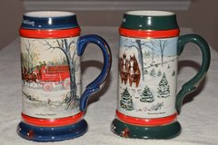 Budweiser Christmas Steins Vintage in Cary, North Carolina