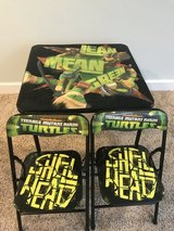 Ninja Turtles kids table with 2 chairs in Morris, Illinois
