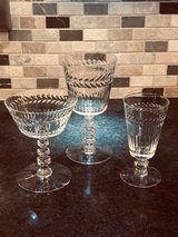 Beautiful Antique Crystal Glass Set in Chicago, Illinois