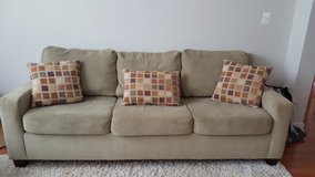 Couch with 3 Decorative Pillows in Quantico, Virginia