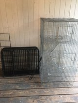 play yard and critter cage in Fort Polk, Louisiana