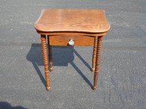 -Antique Spindle Leg Side Table in Oswego, Illinois
