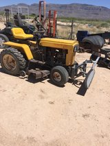 yard tractor with mowered deck, 3 point hitch and front scraper blade in Alamogordo, New Mexico
