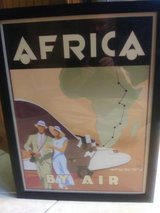 TRAVEL BY AIR- AFRICA. Art deco wall art in Moody AFB, Georgia