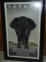 Art Deco framed travel poster in Moody AFB, Georgia
