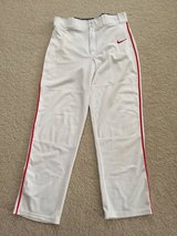 White/Red Piping NIKE Adult M Baseball Pants in Joliet, Illinois