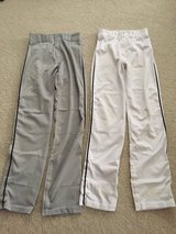 White or Grey/black Piping (S) Adult Baseball Pants in Naperville, Illinois