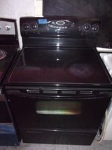Maytag Black Glass Top Electric Range in Fort Riley, Kansas