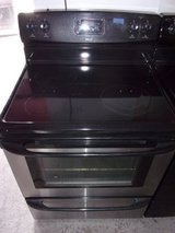 Kenmore Black and Chrome Glass Top Eectric Range in Fort Riley, Kansas
