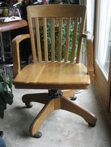 Antique Oak Banker's Arm Chair – Milwaukee Chair Company in Bolingbrook, Illinois