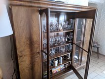 Beautiful solid wood and glass cabinet in Ramstein, Germany