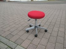 red stool in Ramstein, Germany