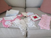linens - hand crocheted in Beaufort, South Carolina