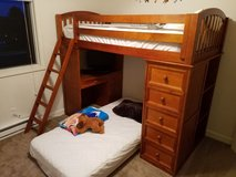 Twin bunk bed/loft with desk and shelves in Yorkville, Illinois