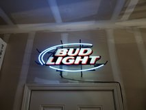 Neon Bud Light sign in Camp Pendleton, California