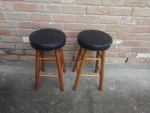 Wood stools in The Woodlands, Texas