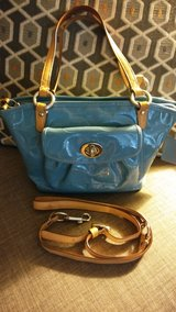 Coach Blue Patent Leather Handbag in Shorewood, Illinois