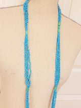 """Turquoise Blue 60"""" Necklace Multi Strand Chain Pendant Bead Plastic in Kingwood, Texas"""