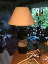 220 volt LAMP made from Huge French Wine Bottle in Ramstein, Germany