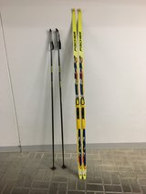 Think Winter early!!! Awesome Fisher Skating Crosscountry Skis-Mens w/poles/180 cm in Wiesbaden, GE