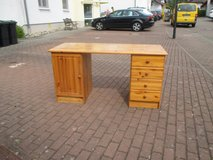 wooden desk with 4 drawers in Ramstein, Germany