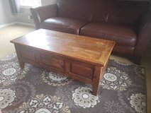All wood table. Needs refinishing on top in Yorkville, Illinois