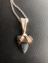 hand wrapped shark tooth necklace in Wilmington, North Carolina