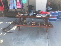 yard sale in Yucca Valley, California