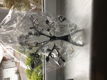 Chrome tree of life with crystal attachments in Ramstein, Germany