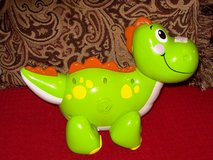 O. Green Dinosaur that plays music in Alamogordo, New Mexico