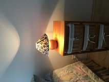 Charming pine wood base lamp 220 v in Ramstein, Germany