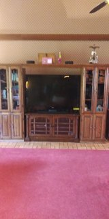 4 piece oak wall unit in Fort Polk, Louisiana
