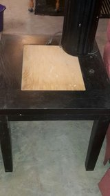 end table black with light wood color in Fort Polk, Louisiana