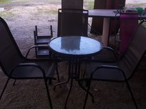 lawn table and three chairs in Fort Polk, Louisiana