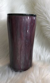 Custom tumbler pink and silver and a dash of black in Fort Riley, Kansas