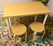 New table with 2 stools in Okinawa, Japan