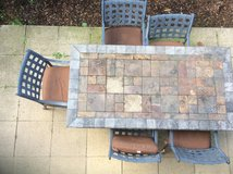 Patio table stone with 6 chairs in Wiesbaden, GE