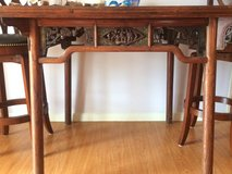 Antique Chinese table and chairs in Okinawa, Japan