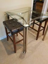 ****Glass and Brushed Nickel Table**** in Kingwood, Texas