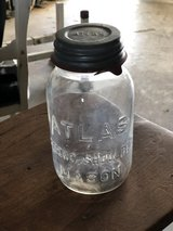 Old Atlas Jar with Zinc Lid in Fort Campbell, Kentucky