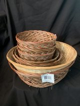 Lot of bamboo baskets in Fort Rucker, Alabama