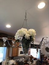 Hanging glass chandelier in Fort Lewis, Washington