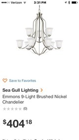 9 light chandelier in Conroe, Texas