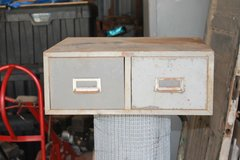 Old Steel Stackable Filing Cabinet in Fort Polk, Louisiana