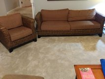 Pier One Couch with four cushions and two matching chairs..Ready to.go in Wilmington, North Carolina