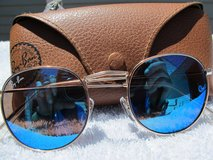 RAY BAN BLUE ROUND METAL RB 3447 /029 / 3N 51--21 MM WITH CASE in Cherry Point, North Carolina