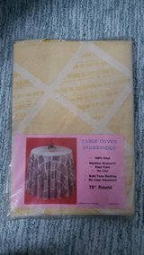 Sturbridge White & Yellow Table Cover in Chicago, Illinois